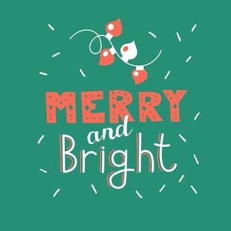 Cite alegres e brilhantes elementos isolados ilustração vetorial impressão de pôster design de cartão luzes