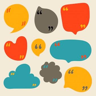 Cite o clip-art de bolhas. quadros vazios para mensagens