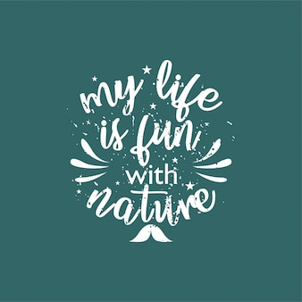 Cite sobre a vida que inspirar e motivar com letras de tipografia.