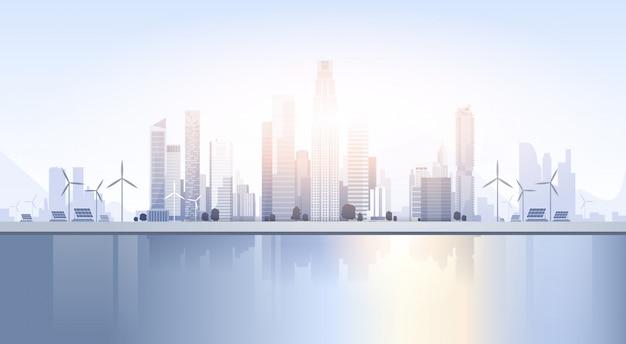City skyscraper view cityscape skyline de fundo silhueta com espaço de cópia