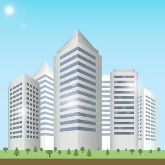 Cityscape de edifícios modernos