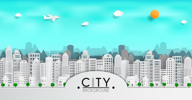 Cityscape papel arte base