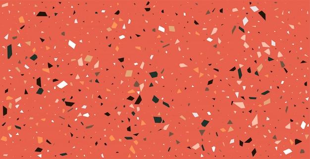 Claasic vermelho terrazzo piso padrão textura de fundo