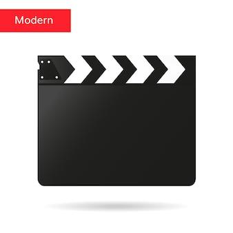 Clapper badalo de vetor de placa de filme