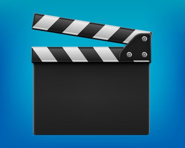 Claquete de cinema, badalo, placa de ardósia de cinema.