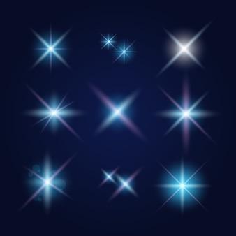 Clarões de lentes e efeitos de iluminação