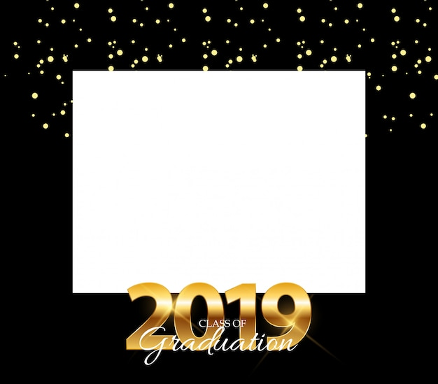 Classe de 2019 graduarion design elements quadro vazio com fundo da educação.