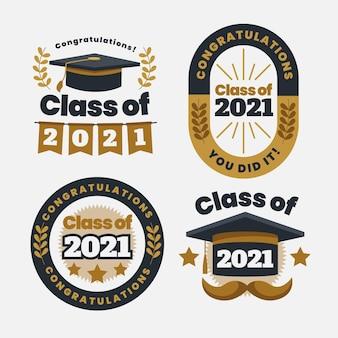 Classe plana de coleção de crachás de 2021