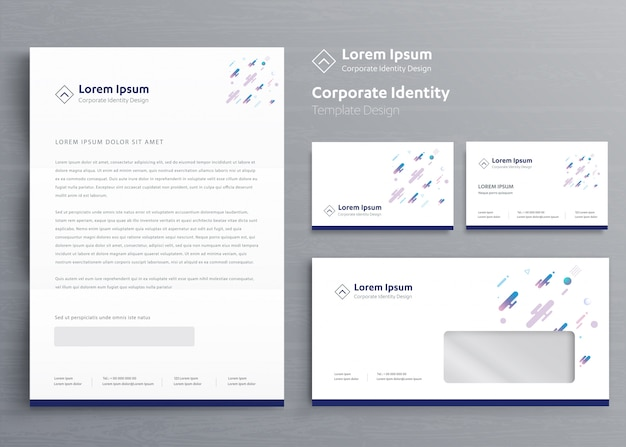 Classic business stationery identidade corporativa