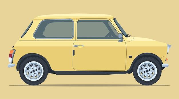 Classic mini car side view