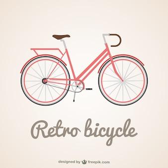 Clássico ilustração vetorial bicicleta