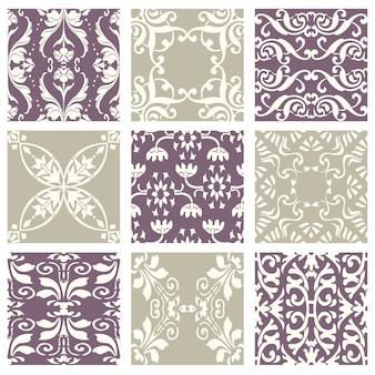 Clássico vintage elegante pastel violeta sem costura padrão abstrato.