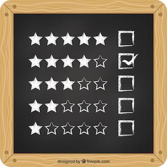 Classificação de estrelas na ardósia