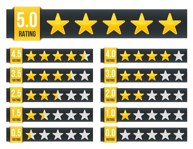 Classificação por estrelas. vote como ranking.