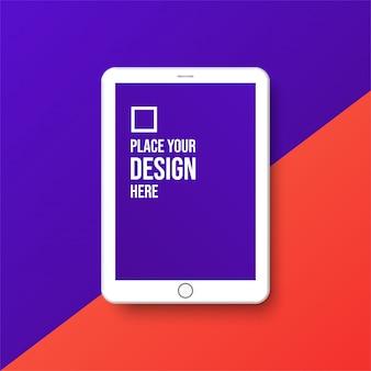 Clay render desenvolvimento de aplicativos para tablets e design de ux / ui