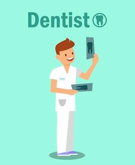 Clínica odontológica, conceito de banner de estomatologia