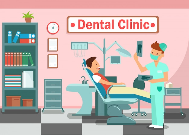 Clinica odontológica Vetor Premium