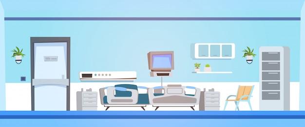 Clínica quarto interior com cama
