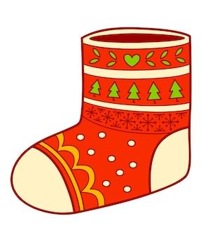 Clip-art de desenhos animados de natal. ilustração em vetor clipart meia.