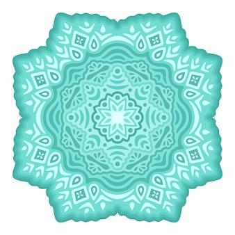 Clip-art gelado com floco de neve decorativo isolado