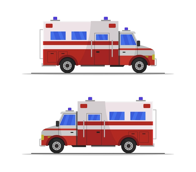 Clipart de ambulância isolado