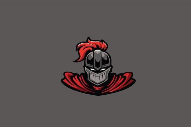 Clipart de cavaleiro vermelho para o logotipo do esports