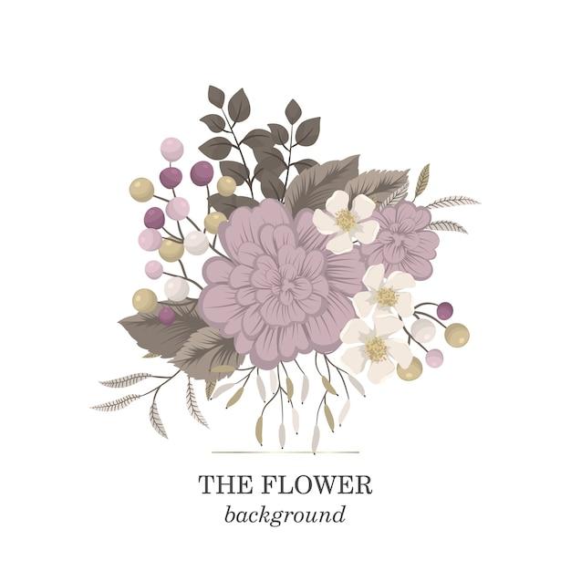 Clipart de flores rosa