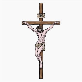 Clipart de ilustração vetorial jesus cristo