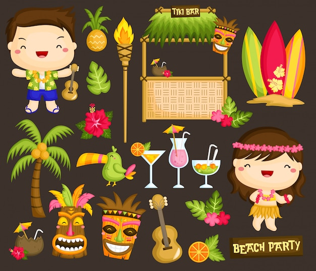 Clipart de luau do havai