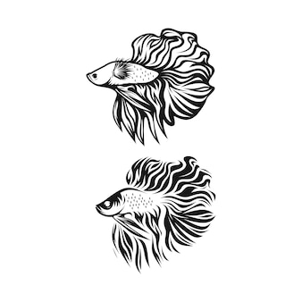 Clipart de peixe betta