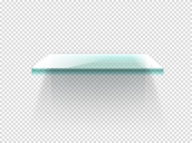 Clipart de prateleira de vidro iluminado