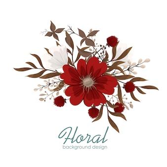 Clipart flor vermelho flores