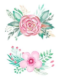 Clipart floral e verde.