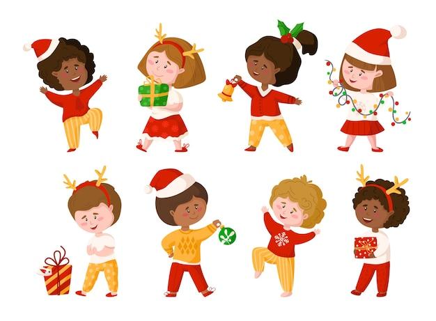 Clipart infantil de natal e ano novo