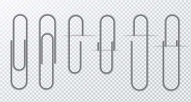 Clipe de papel metálico em transparente