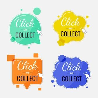 Clique e colete coleção de botões