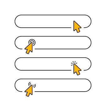 Clique em enviar botão em branco no design de estilo de linha