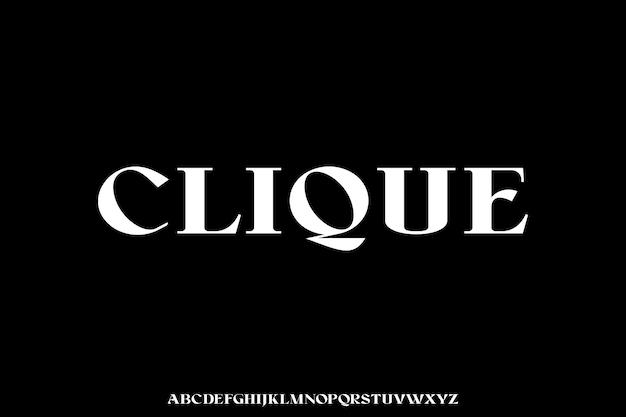 Clique o estilo de fonte glamour luxuoso e elegante