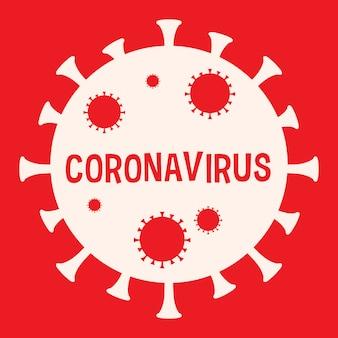 Close-up de ilustração de célula de oronavírus