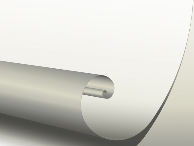 Close-up de um pedaço de papel enrolado