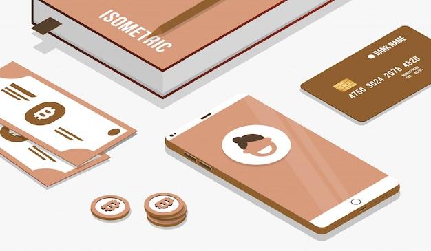 Close-up elementos isométricos para bate-papo inteligente