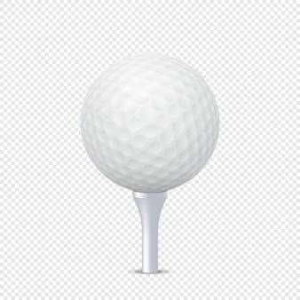 Closeup de bola de golfe realista isolado