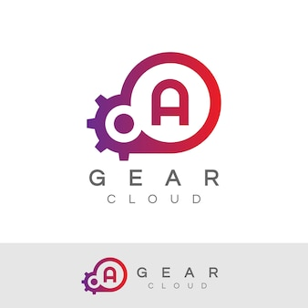 Cloud technology initial letter a design do logotipo