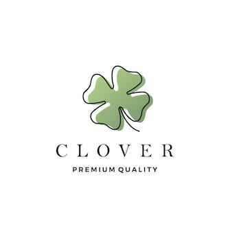 Clover leaf logo vector icon ilustração