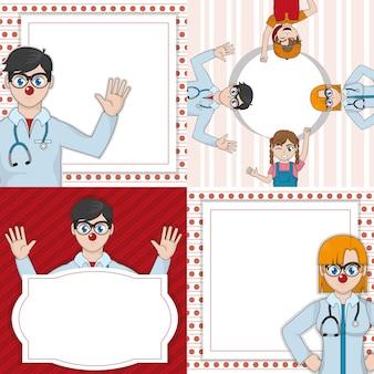 Clown doctor cartoon design