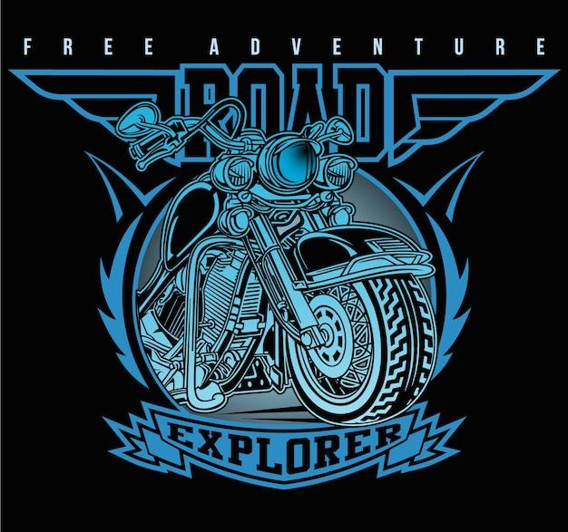 Clube clássico da estrada da motocicleta