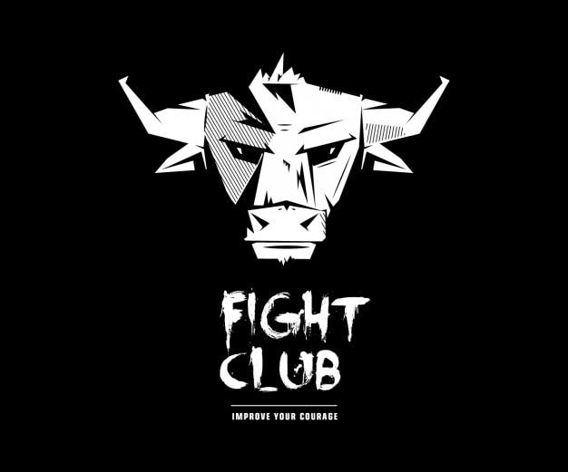 Clube da luta de bull logo