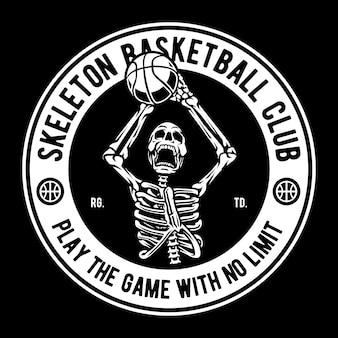 Clube de basquete esqueleto