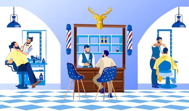 Clube de beleza profissional, salão de cabeleireiro masculino