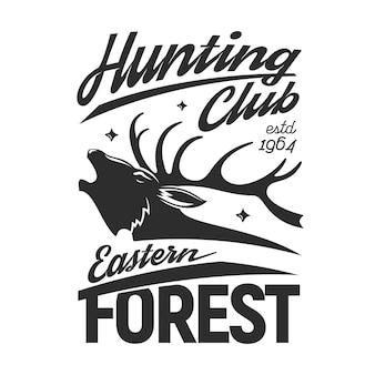 Clube de caçador de cabeça de animal de veado